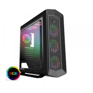 GAMEMAX Asgard G516 RGB Black Case ATX Middle Tower per PC Desktop Gaming