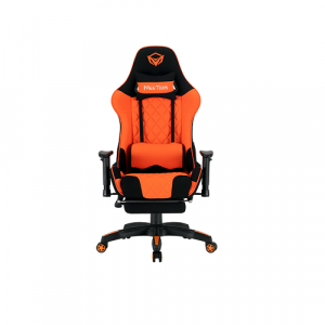 MeeTion MT-CHR25 Gaming Chair with Footrest Black/Orange