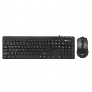 MEETION AT100 Economic Office Wired Mouse and Keyboard Combo